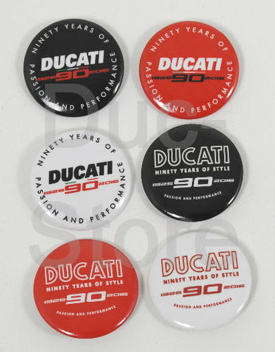 Anstecker / Pin Set Ducati 90th Anniversary