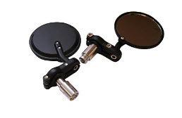 Bar End Spiegels : Stücke motorrad spiegel moto bike schwarz runde billet bar end