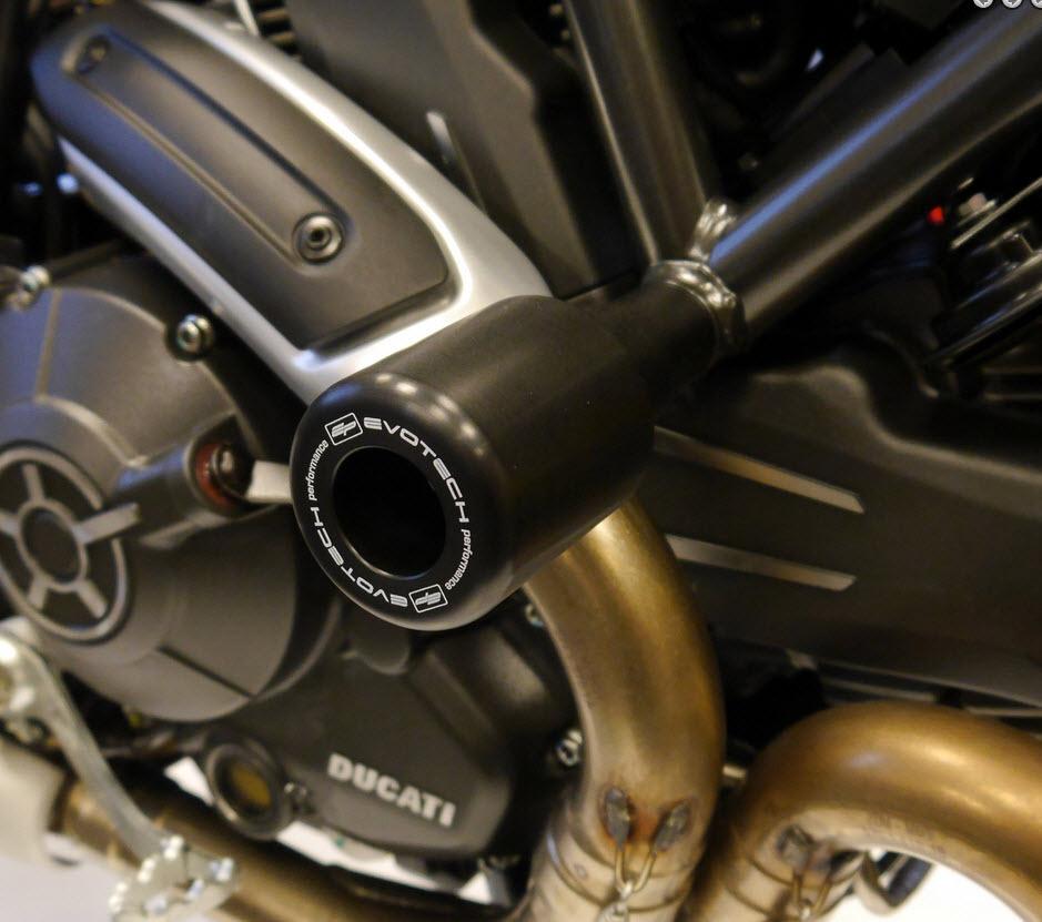 Evotech Performance Rahmen-Sturzpads Ducati Scrambler / Monster 797 ...