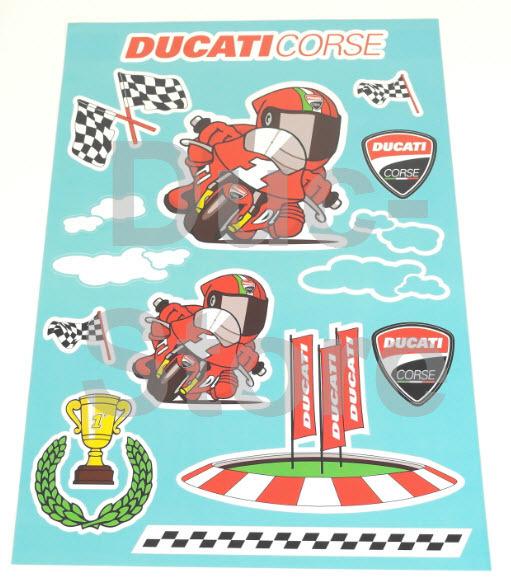Ducati Cartoon Kids Sticker The Ducati Store Ducati Scrambler Shop