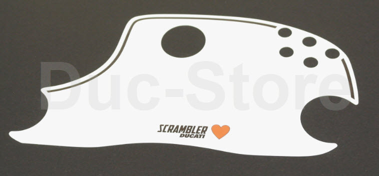 start number field for headlight fairing sport ducati scrambler