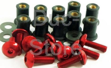 Aluminium fairing screw M5x16 (10 ´er set / div  colors) - The