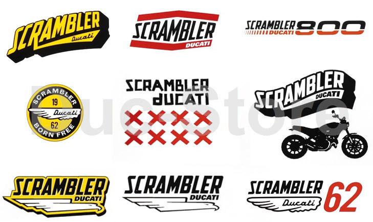 Ducati Scrambler Lifestyle Sticker Set